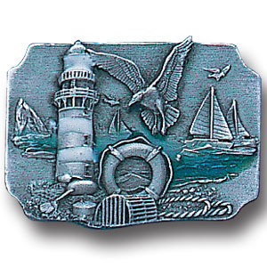 Pin - Coastal Scene - Our fully cast and enameled coastal scene pin features exceptional detail with a hand enameled finish.