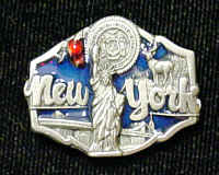 Pin - New York Seal - Our fully cast and enameled New York pin features exceptional detail with a hand enameled finish.