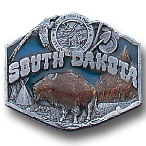 Pin - South Dakota - Our fully cast and enameled South Dakota pin features exceptional detail with a hand enameled finish.
