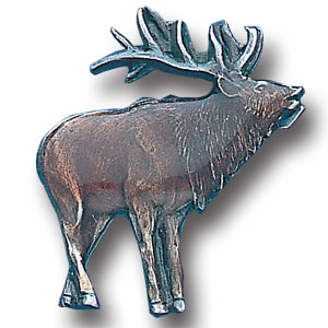 Pin - Elk - Our fully cast and enameled elk pin features exceptional detail with a hand enameled finish.