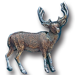 Pin - Mule Deer - Our fully cast and enameled mule deer pin features exceptional detail with a hand enameled finish.