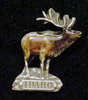 Pin - Idaho Elk - Our fully cast and enameled idaho elk pin features exceptional detail with a hand enameled finish.