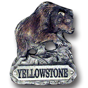 Pin - Yellowstone Bear - Our fully cast and enameled Yellowstone pin features exceptional detail with a hand enameled finish.