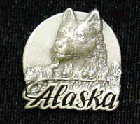 Pin - Alaska Dog Team - Our fully cast and enameled Alaska pin features exceptional detail with a hand enameled finish.