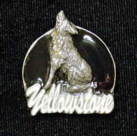 Pin - Yellowstone Wolf - Our fully cast and enameled Yellowstone pin features exceptional detail with a hand enameled finish.