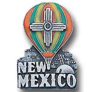 Pin - New Mexico - Our fully cast and enameled New Mexico pin features exceptional detail with a hand enameled finish.