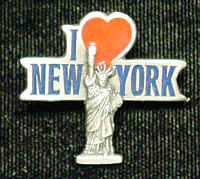 Pin - I Love New York - Our fully cast and enameled New York pin features exceptional detail with a hand enameled finish.