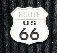 Pin - Route 66 - Our fully cast and enameled Route 66 pin features exceptional detail with a hand enameled finish.