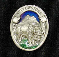 Pin - Yellowstone Bison - Our fully cast and enameled Yellowstone pin features exceptional detail with a hand enameled finish.