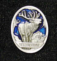 Pin - Yellowstone Elk - Our fully cast and enameled Yellowstone pin features exceptional detail with a hand enameled finish.