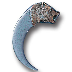Pin - Bear Head and Claw - Our fully cast and enameled bear head and claw pin features exceptional detail with a hand enameled finish.