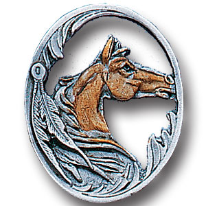 Pin - Horse Head - Our fully cast and enameled horse pin features exceptional detail with a hand enameled finish.
