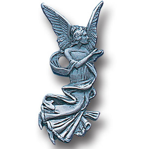 Pin - Angel - Our fully cast and enameled angel pin features exceptional detail with a hand enameled finish.