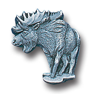 Pin - Moose - Our fully cast and enameled moose pin features exceptional detail with a hand enameled finish.