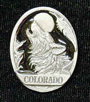 Pin - Colorado Wolf - Our fully cast and enameled Colorado pin features exceptional detail with a hand enameled finish.