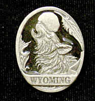 Pin - Wyoming Wolf - Our fully cast and enameled Wyoming pin features exceptional detail with a hand enameled finish.
