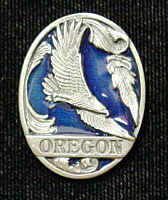 Pin - Oregon Eagle - Our fully cast and enameled Oregon pin features exceptional detail with a hand enameled finish.