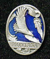 Pin - Montana Eagle - Our fully cast and enameled Montana pin features exceptional detail with a hand enameled finish.