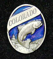 Pin - Colorado Trout - Our fully cast and enameled Colorado pin features exceptional detail with a hand enameled finish.