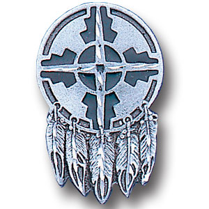 Pin - Indian Shield - Our fully cast and enameled indian shield pin features exceptional detail with a hand enameled finish.