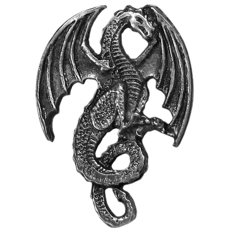 Pin - Dragon  - Our fully cast and enameled dragon  pin features exceptional detail with a hand enameled finish.