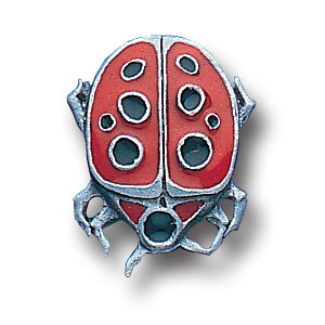 Pin - Lady Bug - Our fully cast and enameled lady bug pin features exceptional detail with a hand enameled finish.