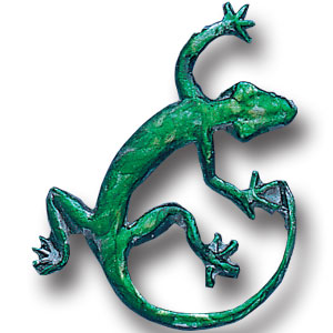Pin - Gecko - Our fully cast and enameled gecko pin features exceptional detail with a hand enameled finish.