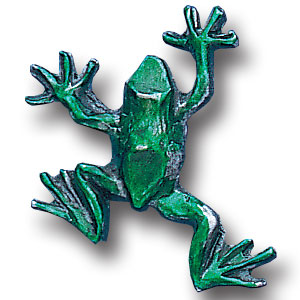 Pin - Frog - Our fully cast and enameled frog pin features exceptional detail with a hand enameled finish.
