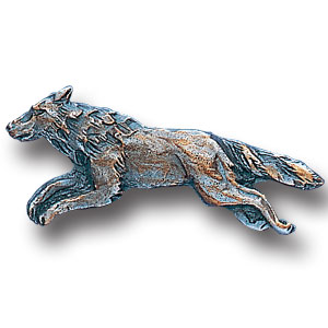 Pin - Wolf - Our fully cast and enameled wolf pin features exceptional detail with a hand enameled finish.
