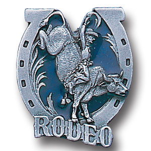 Pin - Rodeo - Our fully cast and enameled rodeo pin features exceptional detail with a hand enameled finish.