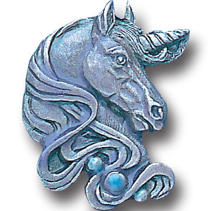 Pin - Unicorn Head - Our fully cast and enameled unicorn pin features exceptional detail with a hand enameled finish.