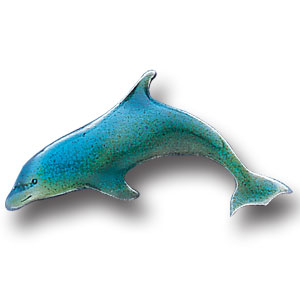 Pin - Dolphin - Our fully cast and enameled dolphin pin features exceptional detail with a hand enameled finish.