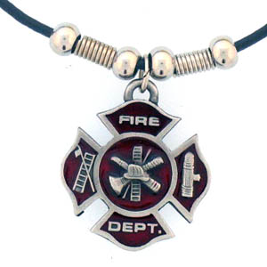"Leather Cord Necklace - Maltese Cross - Siskiyou's pendants are on a beaded 24"" adjustable leather cord with a detailed pendant. Check out the entire line of Zodiac sign  necklaces!"