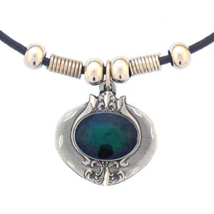 "Leather Cord Necklace - Emerald Stone - Siskiyou's pendants are on a beaded 24"" adjustable leather cord with a detailed pendant. Check out the entire line of Zodiac sign  necklaces!"
