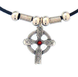 "Leather Cord Necklace - Celtic Cross - Siskiyou's pendants are on a beaded 24"" adjustable leather cord with a detailed pendant. Check out the entire line of Zodiac sign  necklaces!"