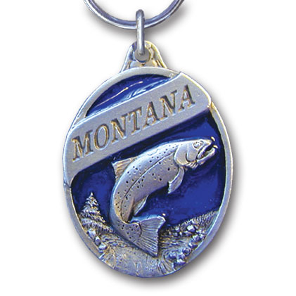 Key Ring - Montana Trout - This collector's key ring is finely detailed and features a Alaska Moose emblem.