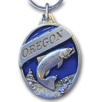 Key Ring - Oregon Trout - This collector's key ring is finely detailed and features a Alaska Trout emblem.