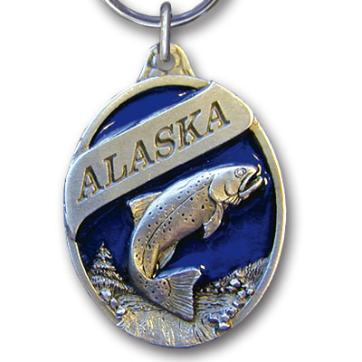 Key Ring - Alaska Trout - This collector's key ring is finely detailed and features a Colorado Bison emblem.