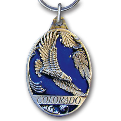 Key Ring - Colorado Eagle - This collector's key ring is finely detailed and features a Colorado Elk emblem.