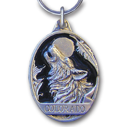 Key Ring - Colorado Wolf - This collector's key ring is finely detailed and features a Colorado Train emblem.