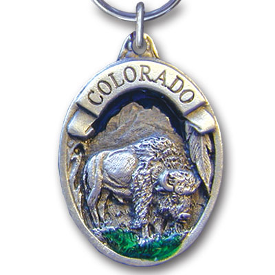 Key Ring - Colorado Bison - This collector's key ring is finely detailed and features a Colorado Trout emblem.
