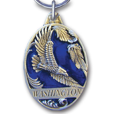 Key Ring - Washington Eagle - This collector's key ring is finely detailed and features a Montana Eagle emblem.