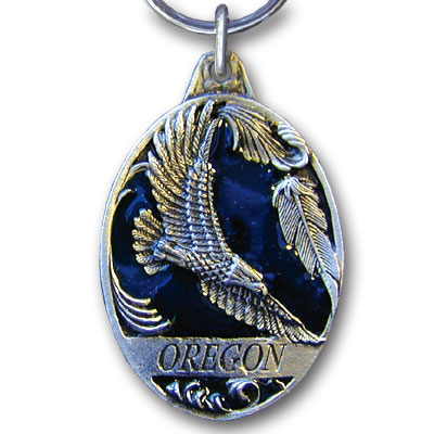 Key Ring - Oregon Eagle - This collector's key ring is finely detailed and features a Montana Elk emblem.