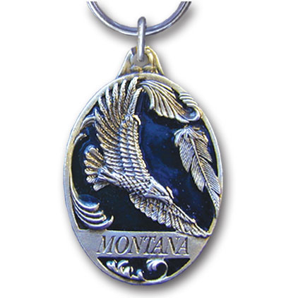 Key Ring - Montana Eagle - This collector's key ring is finely detailed and features a Montana Trout emblem.
