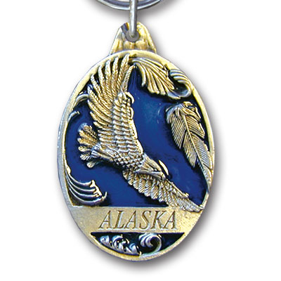 Key Ring - Alaska Eagle - This collector's key ring is finely detailed and features a Montana Wolf emblem.