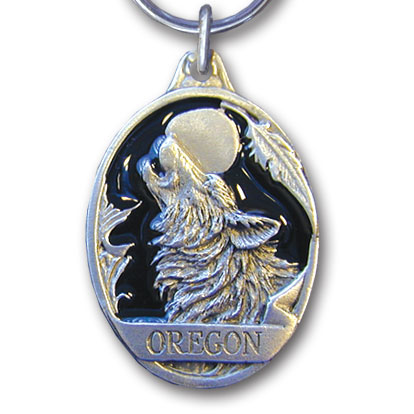 Key Ring - Oregon Wolf - This collector's key ring is finely detailed and features a New York Statue of Liberty emblem.