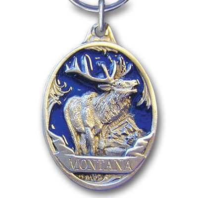 Key Ring - Montana Elk - This collector's key ring is finely detailed and features a Oregon Elk Blue emblem.