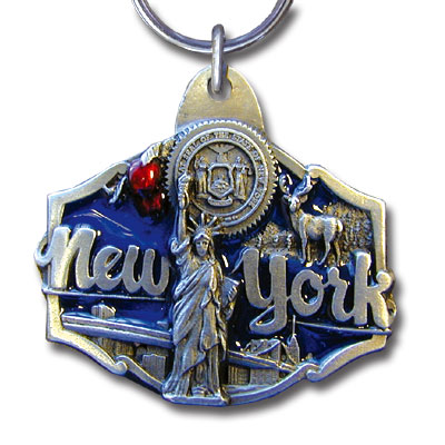Key Ring - New York Statue of Liberty - This collector's key ring is finely detailed and features a Pennsylvania emblem.