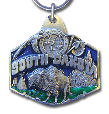 Key Ring - South Dakota - This collector's key ring is finely detailed and features a South Dakota emblem.