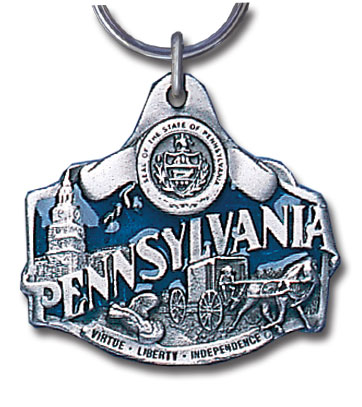 Key Ring - Pennsylvania - This collector's key ring is finely detailed and features a Texas emblem.